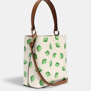 COACH Small Town Bucket Bag With Lime Print